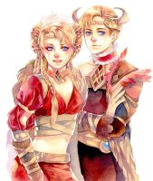 Freya and Frey by Ecthelian