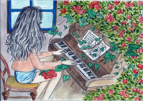 Music, Bed Hair and Roses by jeanin95