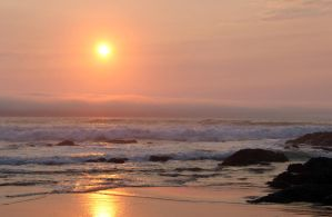 Lincoln City Sunset 2 by Cynnalia-Stock