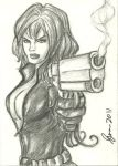 Black Widow Sketch Card by ArtOfRivana