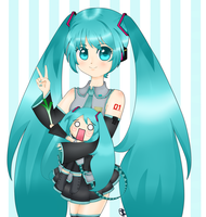 Hatsune and Hachune by GabyDash
