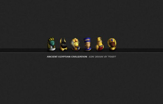 Ancient Egypt-Icons by poseit