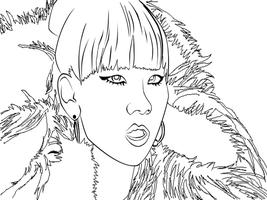 "CL ""It Hurts"" Line Art by TheMangaBoy"