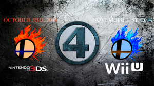 Super Smash Bros. 4 - Teaser Wallpaper by TheWolfBunny