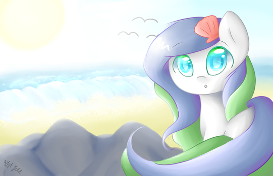 Coastal Candle Wallpaper by FeatherWishMLP