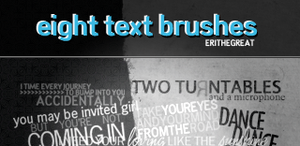 8 Text Photoshop Brushes by erithegreat