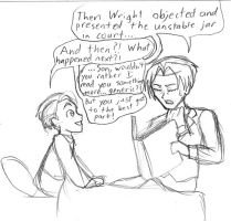 Phoenix Wright: Bedtime story by androidgirl