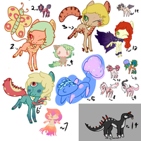 30pts and below adopts. - OPEN- by MittensAdopts