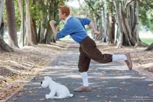 Tintin and Snowy by AlchemyAllStars