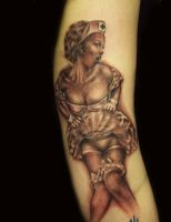 Pin up Tattoo by hatefulss