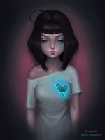 Crying heart by AyyaSAP