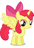 Request: Alicorn Apple Bloom by TizerFiction