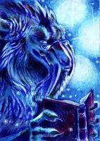 Light to read by - ACEO by thornwolf
