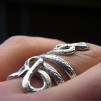 Sterling silver snake ring by nellyvansee