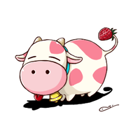 Strawberry Cow by MMChristina