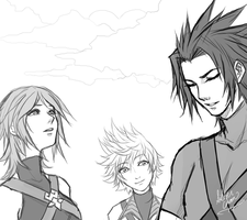 KH:BBS - Aqua Terra Ven Sketches by LightSilverstar