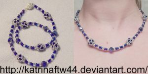 Royal Blue necklace for Grandma by KatrinaFTW44