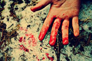 Blood on my hands. by EmilSnow