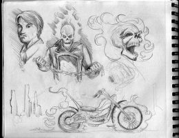 2013 A4 Canson Sketchbook: Ghost Rider by Penerari