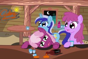 Night at the Cider Barrel by RayRunnels
