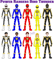 Power Rangers Dino Thunder by Ameyal
