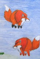 Air foxes by RedCloudlet