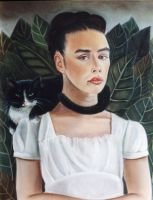 Self Portrait style of Kahlo by enginemonkey