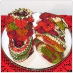 Autumn baby booties by Coccis