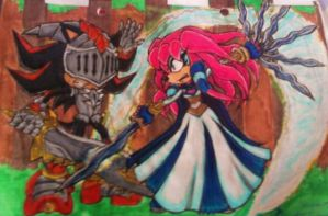 Battle- Guinevere vs Lancelot by Sky-The-Echidna