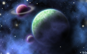 Planet widescreen wallpaper 2 by auravaz