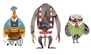 Edward Lear Characters by Monkey-Mafia