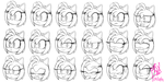 Amy Rose- face expressions by RGXSuperSonic