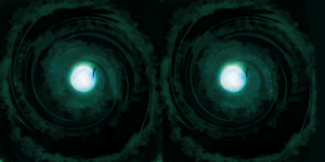 Full moon in stereo by HellHoundx666