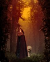 Ginger and Wolf digital Oils by Pendragon1951