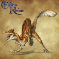 Endless Realms bestiary - Sand Raptor by jocarra