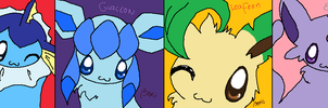 Eeveelutions 10 min Challenge by SweetBeriiChu