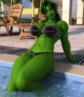 She Hulk Pool Revisited by willdial