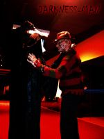 Freddy VS Ghost face by Darkness-Man