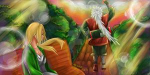 Jiraiya Leaves Tsunade by disneyaddict7418