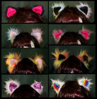 Colourful Cat Ears Batch 8 by StuffItCreations