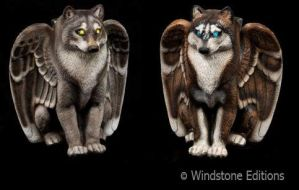 Spirit wolf candlelamps by Reptangle