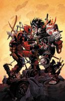 Deadpool v Lobo by JeremyColwell