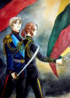 Russia and Lithuania by hanakoofthejungle