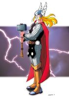 Thor background by CROMOU