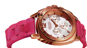 Watch in Gold and Magenta by Magenta-Fantasies