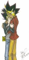 YGO: Yuugi and Yami Cuddleness by pedal
