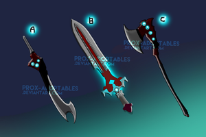 Weapon Adoptables 3/3 * CLOSED by Maximum-Simplicity