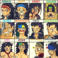 Expressions:Gajeel:: by 191195