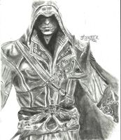 Assassin's Creed : EZIO sketch by hardik9