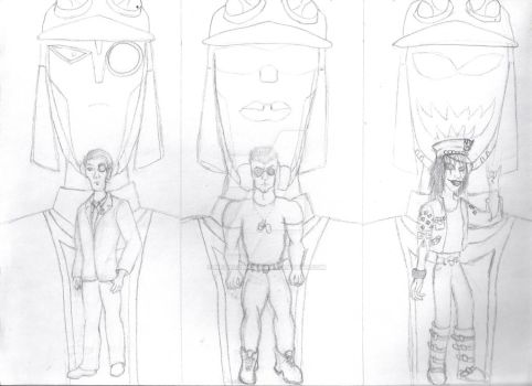 Human forms of Blitzwing (WIP) by Metalchick36